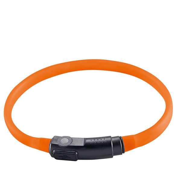 LED Katzenhalsbalsband Leuchtschlauch mit USB orange
