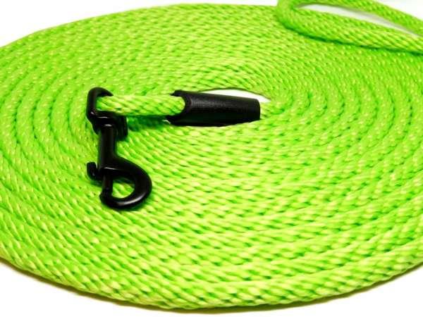 Hochwertige runde Katzenleine / Schleppleine 5 oder 10 Meter Länge neon-grün