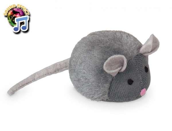 Plüschmaus mit Katzenminze und natürlicher Mausstimme