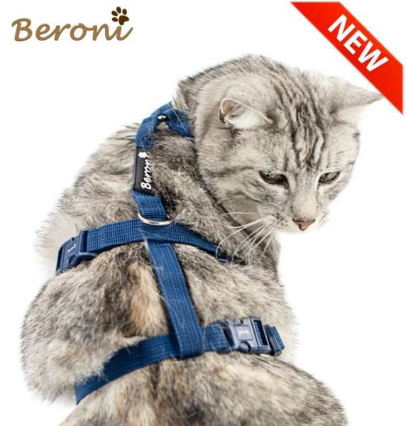 Top Katzengeschirr ausbruchsicher Safety Harness Classic blau