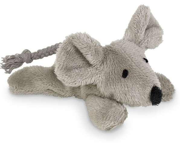 Plüschmaus Katzenspielzeug grau mit Katzenminze nachfüllbar