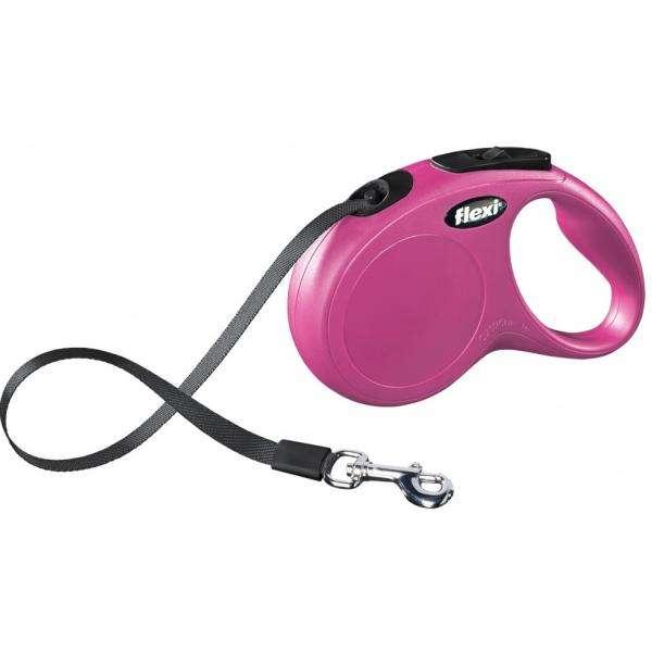 Katzenleine Flexi Roll-Leine Gurtleine 5 Meter pink-rosa