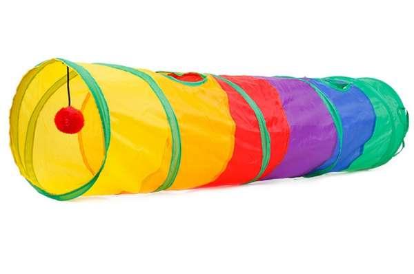 Katzentunnel Regenbogen groß